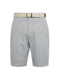 burton-menswear-london-belted-stripe-shorts-grey