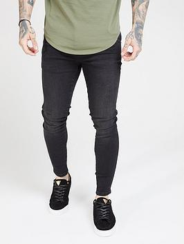 Sik Silk Sik Silk Skinny Denim Jean - Black Picture