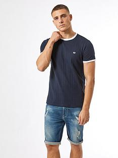 burton-menswear-london-embroidered-ribbed-t-shirt-navy