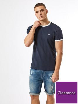 burton-menswear-london-embroidered-ribbed-t-shirt-navy