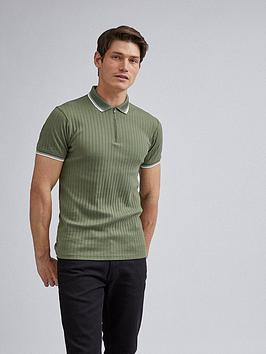 Burton Menswear London Burton Menswear London Tipped Polo Shirt - Green Picture