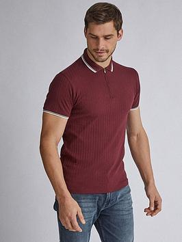 Burton Menswear London Burton Menswear London Ribbed Tipped Polo Shirt  ... Picture