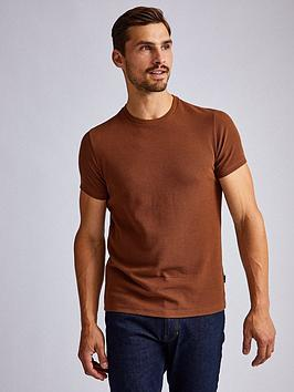 Burton Menswear London Burton Menswear London Waffle Camel T-Shirt &Ndash;  ... Picture