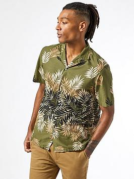 Burton Menswear London Burton Menswear London Short Sleeve Leaf Print  ... Picture