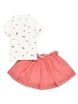 V by Very V By Very Girls Rib Top And Tutu Skirt Set - Multi Picture