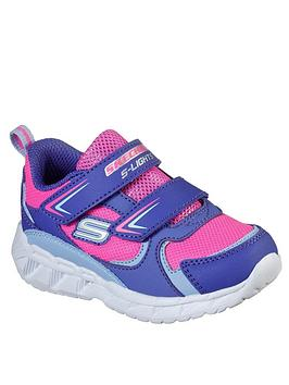 Skechers Skechers Toddler Girls Magna-Lights Trainers - Purple Picture