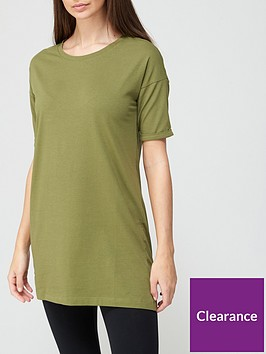 v-by-very-shortnbspsleeve-tunic-khaki