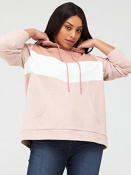 V by Very Curve V By Very Curve Colour Block Hoodie - Pink Picture