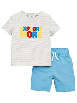 V by Very V By Very Boys Explore More Tee And Jog Shorts - Multi Picture