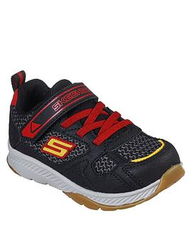 Skechers Skechers Boys Comfy Grip Trainers - Black/Red Picture