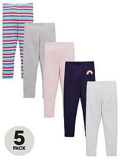 v-by-very-girls-5-pack-rainbow-leggings-multi