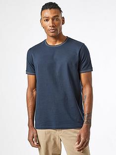 burton-menswear-london-jacquard-collar-t-shirt-navy