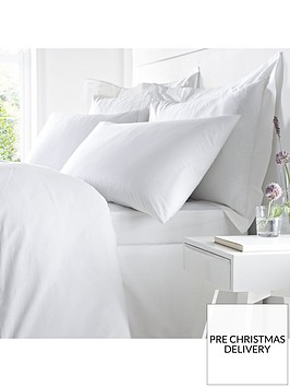 bianca-cottonsoft-bianca-100-egyptian-cotton-double-fitted-sheet-ndash-white