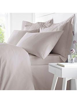 Catherine Lansfield Bianca Egyptian Cotton Single Duvet Cover Set &Ndash; Blush