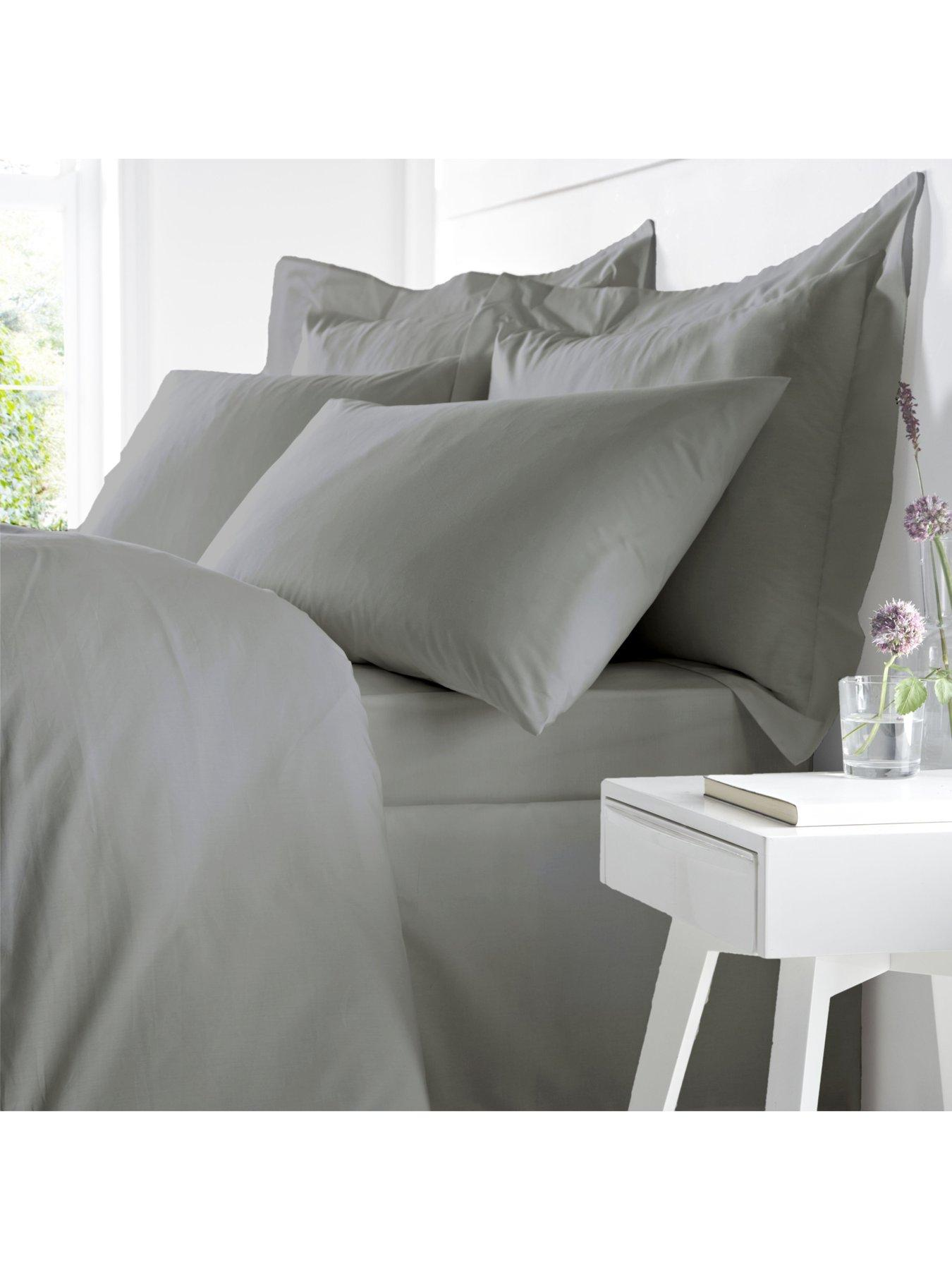 HUGO BOSS Cotton Satin Fitted Bedsheet 150//200cm King Size