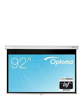 optoma-ds-9092pwc-92in-pull-down-matt-white-screen-for-projector