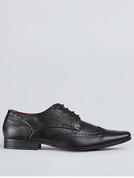 Burton Menswear London Burton Menswear London Redford Brogue Shoes - Black Picture