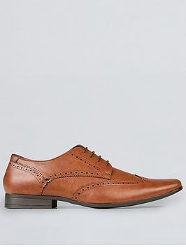 Burton Menswear London Burton Menswear London Redford Brogue Shoes - Brown Picture