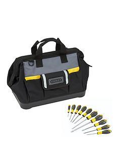 stanley-stanley-stst83329-1-16inch-tool-bag-10-piece-screwdriver-set