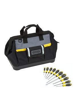 Stanley Stanley Stanley Stst83329-1 16Inch Tool Bag + 10 Piece Screwdriver  ... Picture