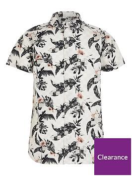 river-island-boys-printed-short-sleeve-shirt-grey