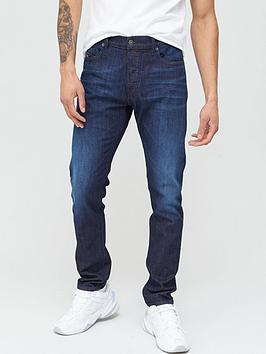 Diesel Diesel D-Luster Slim Fit Dark Wash Jeans - Navy Picture
