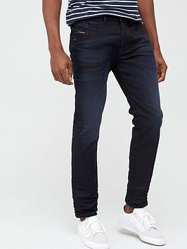 Diesel D-Bazer Tapered Fit Dark Wash Jeans - Dark Blue