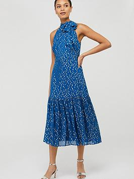 Monsoon Monsoon Leilani Sustainable Tiered Midi Dress - Blue Picture