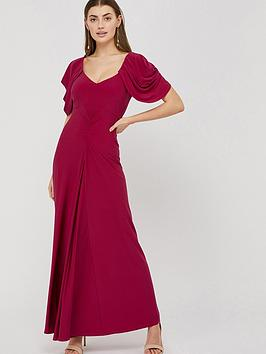 Monsoon Monsoon Cynthia Ruched Sleeve Maxi Dress - Pink Picture
