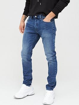 Diesel Diesel D-Luster Slim Fit Vintage Wash Jeans - Mid Blue Picture