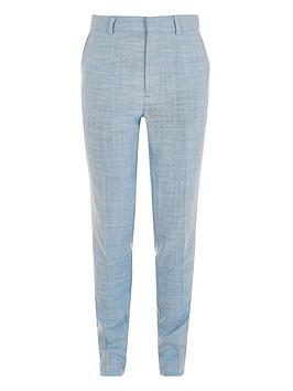 River Island River Island Boys Slim Fit Suit Trousers-Blue Picture