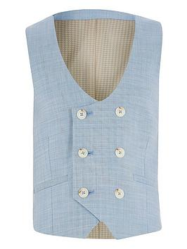 River Island River Island Boys Double Breasted Waistcoat-Blue Picture