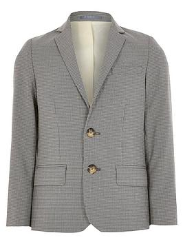 River Island River Island Boys Check Suit Blazer - Grey Picture