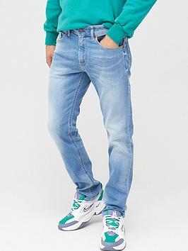 Diesel Diesel Thommer Slim Skinny Fit Light Wash Jeans - Light Blue Picture