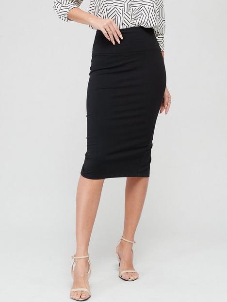 v-by-very-confident-curve-skirt-black