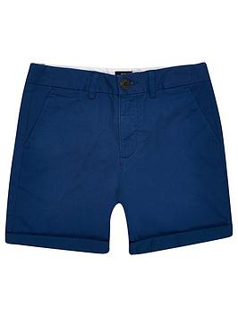 River Island River Island Boys Chino Short - Navy Picture