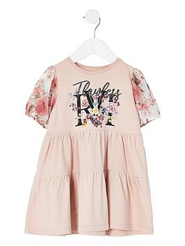 river-island-mini-girls-printed-smock-dress--nbsppink