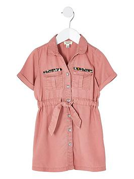 river-island-mini-girls-tie-waist-shirt-dress-pink