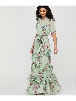 Monsoon Monsoon Aesha Tiered Print Maxi Dress - Green Picture