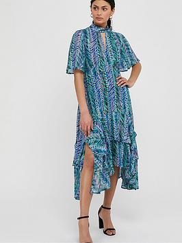 Monsoon Monsoon Aaliyah Print Hanky Hem Dress - Blue Picture