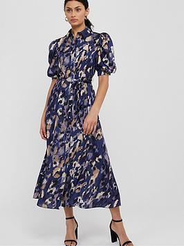 Monsoon Monsoon Libby Animal Print Shirt Dress - Blue Picture