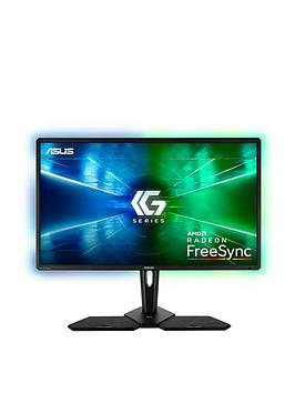 Asus   Cg32Uq, 32 Inch 4K (3840X2160) Console Gaming Monitor - Freesync For Xbox, Playstation And Nintendo Switch, Dp, Hdmi, Displayhdr 600, Halo Sync, Gamefast