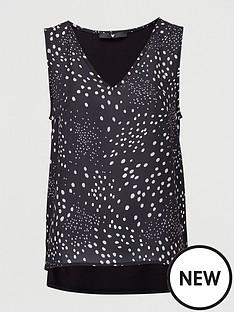 v-by-very-woven-front-vest-black-spot