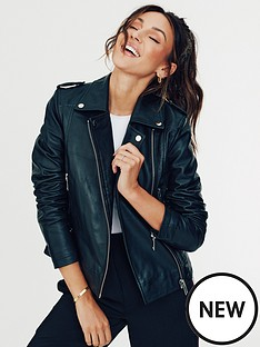 michelle-keegan-ultimate-leather-biker-jacket-black