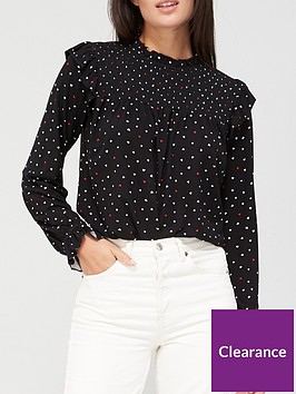 v-by-very-long-sleeve-shirred-top-heart-print