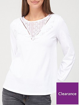 v-by-very-long-sleeve-lace-yolk-top-white