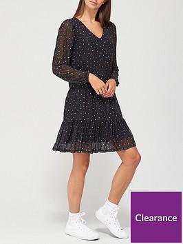 v-by-very-mesh-v-neck-mini-dress-heart-print