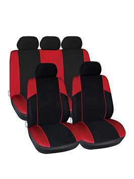streetwize-accessories-arizona-polyester-11-pce-seat-cover-set-with-zips-in-red