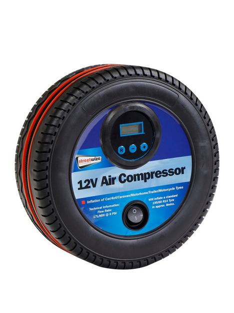 streetwize-accessories-12v-air-compressor-tyre-shape-with-digital-gauge