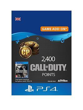 Playstation 4 2,400 Call Of Duty®: Modern Warfare® Points - Digital Download